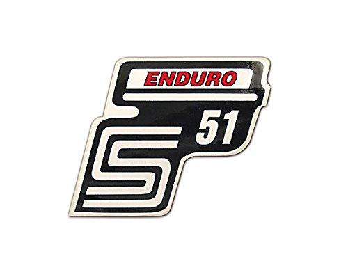 Aufkleber Simson S51 Enduro rot für Seitendeckel