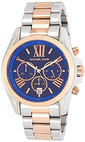 Michael Kors MK5606 Women's Bradshaw Chronograph Navy Blue Dial Two Tone Steel Watch