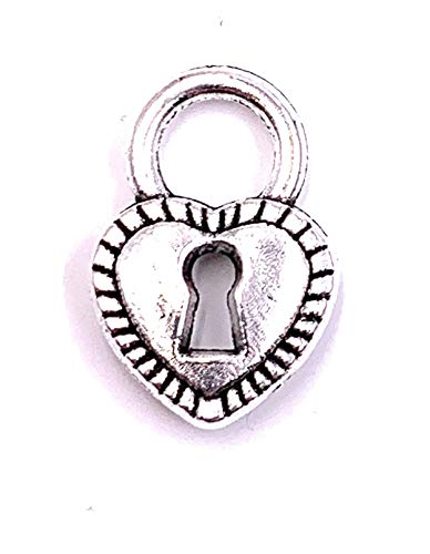 H-Customs Heart Lock Love Charm Pendant Chain Pendant Craft Supplies Jewelry Findings