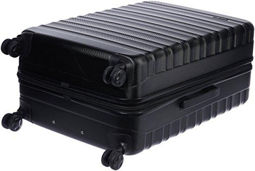 Amazon Basics - Valigia Trolley rigido con rotelle girevoli, 78 cm, Nero
