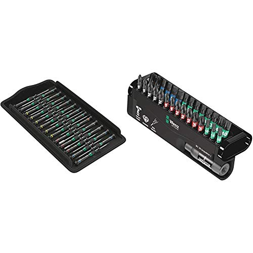 Wera 05134000001 Kraftform Micro Big Pack 1 Screwdriver Set & 57690 Impaktor Assorted Bit Set, 30 Pieces