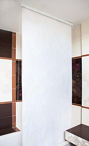KS Handel 24 HALB-Kassetten DUSCHROLLO 100 cm BREIT Uni Weiss DUSCHVORHANG 100x240 cm! Shower Rollo Curtain