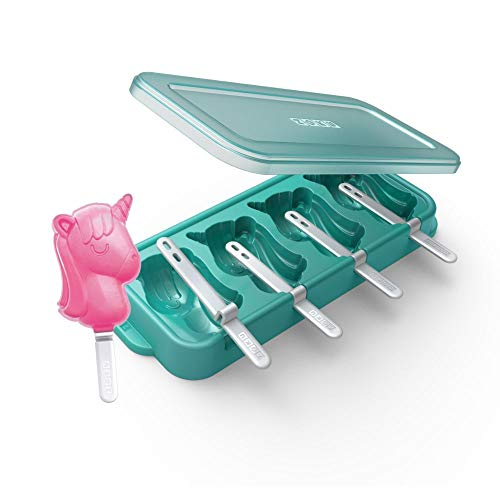 Crea deliciosos polos en forma de flamenco o unicornio. Kit para hacer polos sin BPA. Plástico y silicona. Lavar a mano. Medidas: 29,7 cm de largo x 11,5 cm de ancho x 3,5 cm de alto.