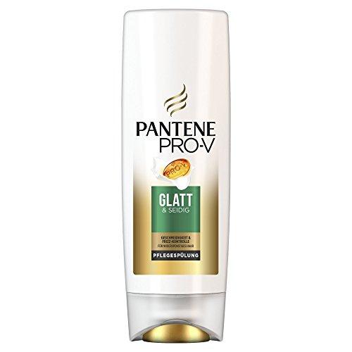 Pantene Pro-V Smooth & Silky Conditioner Voor weerbarstig haar, 3-pack (3 x 200 ml), conditioner, glans voor haarverzorging, anti-pluis conditioner, schoonheid