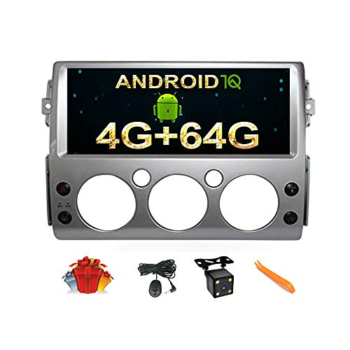 CUSP 12.3 Inch Android Car Stereo Radio GPS Navigation for Toyota FJ Cruiser 2006-2021 Multimedia Player Octa 4G+64G, Car Play HD IPS Screen Auto Head Unit Dash Install Kit Plug in and Play