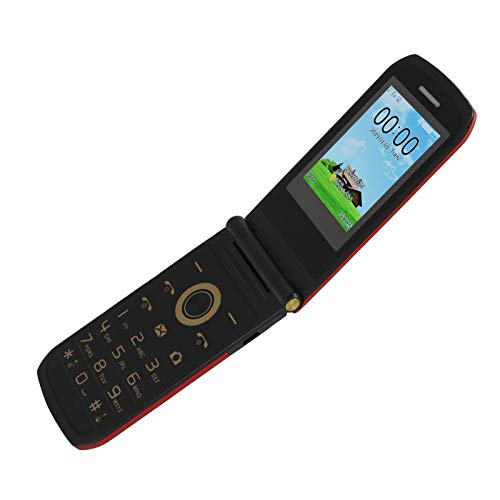 Cuifati Teléfono Celular de 2.4 Pulgadas 100-240V E7 4 Banda de frecuencia Teléfono móvil de Espera súper Largo tamaño pequeño con Personalidad(European regulations)