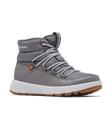 Columbia Women's Slopeside Village Omni-Heat Mid Boot, Titanium II/Grey Ice, 8 Regular US