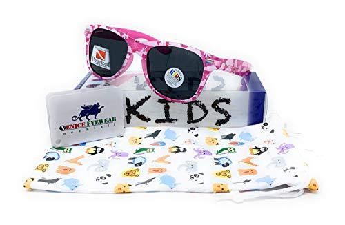 VENICE EYEWEAR OCCHIALI Gafas de sol Polarizadas para niña - protección 100% UV400 - Disponible en varios colores (Rosa)