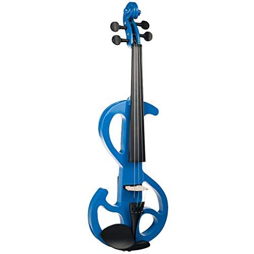 Shiwaki Kit de Violín Eléctrico Silencioso 4/4 Instrumento Musical de Brazilwood Regalo para Amantes de Música
