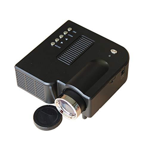 Portable Mini Projector Original UC28 PRO Movie LED Projector for Home Cinema Camping Backyard T-Heater AV VGA USB (Black)