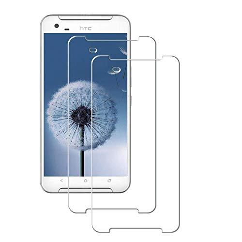 MSOSA Kompatibel mit Panzerglas HTC One X9 Schutzfolie, [2 Stück] 9H Festigkeit Panzerglasfolie HD Bildschirmschutzfolie Vollständige Abdeckung Glas Folie für HTC One X9