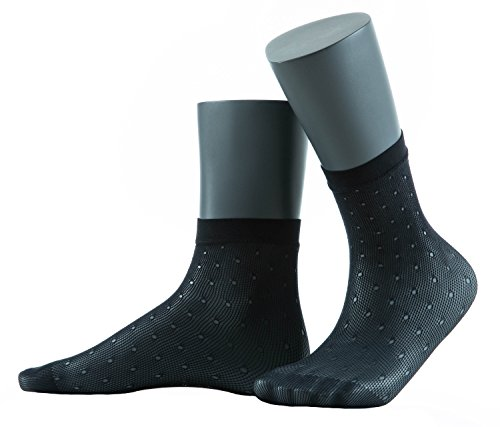 Gatta Jacquard Netzsöckchen 24 - elegante Socken mit einem schönen Muster - onesize - Nero