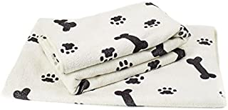 Zwipes 781 White with Black Bone/Paw Print Extra Large (30
