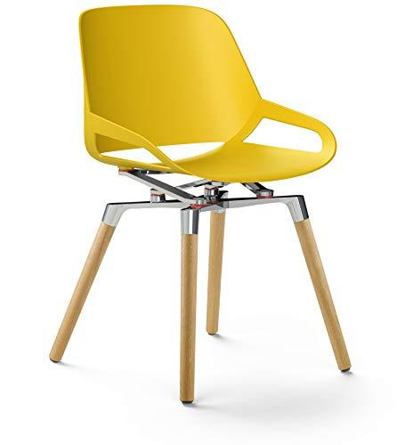 aeris Numo ergonomischer Schwingstuhl mit patentierter Kinematik – Ergonomischer Wohnzimmerstuhl in 4 verschiedenen Modellen – Hochwertiger Design Stuhl