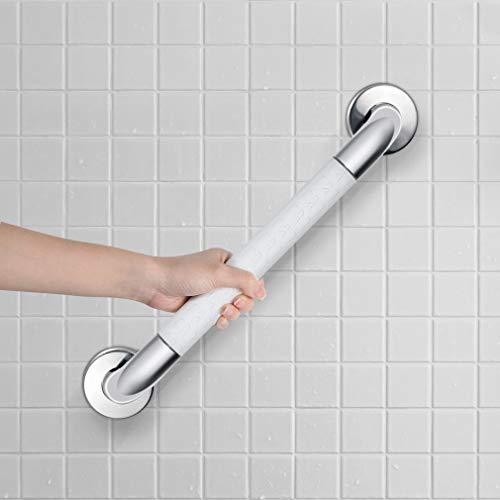 Synlyn Haltegriff Dusche Badewannengriff aus Edelstahl Sicherheitsgriff Wandmontage Wannengriff Badewanne Wandgriff Ø 35mm Duschgriff für Bad Badezimmer WC -Weiß
