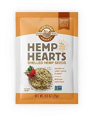 Manitoba Harvest Hemp Hearts Shelled Hemp Seeds, Protein & 12g Omegas per Serving, Whole 30 Approved, Vegan, Keto, Paleo, Non-GMO, Gluten Free