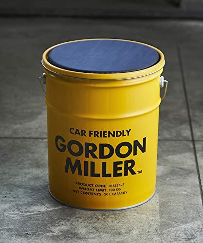 GORDON MILLER ペール缶スツール 20l チェア 椅子 スタッキング アウトドア キャンプ 収納 洗車 ゴミ箱 クッション 蓋 スタンド イエロー 1553427