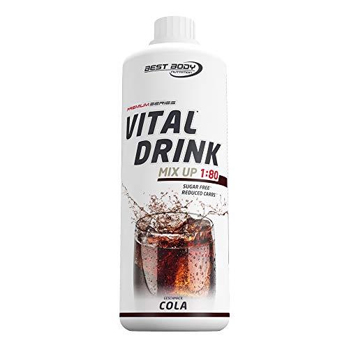 Best Body Nutrition Vital Drink Cola, Getränkekonzentrat, 1000 ml Flasche