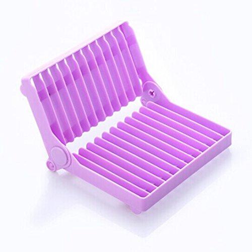 Bestonzon Egouttoir Pliable Égouttoir à vaisselle, plastique Séchoir support (Violet)