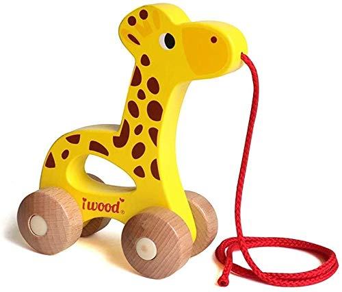Ladan Fun Car Toy, Petit Panier d'animaux, Walker Early Education Puzzle Jouet, coloré Animal Wisdom Voiture 3-6 Ans OldChildren Remorque Jouet for Enfants Jouets à l'intérieur d'extérieur
