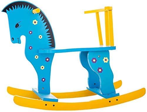 Sofa Children's Rocking Horse Trojan kinderen speelgoed baby Rocking Chair Planken van de baby 1-3 jaar oud Gift Rocking Wiegen Lostgaming