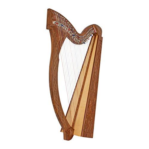 Roosebeck 29-String Minstrel Harp w/Chelby Levers - Vine Design