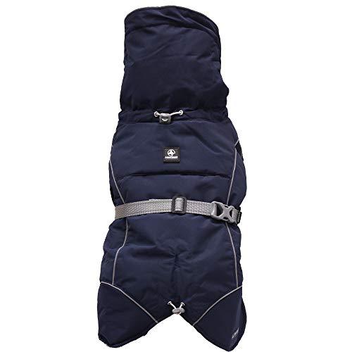 Croci Hiking Hundemantel, wasserdicht, für Hunde, gefüttert, Wintermantel, Thermofutter, K2, Blau, Größe 20 cm - 120 g