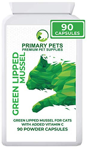 Primary Pets Green Lipped Mussel for Cats. 90 Powder Capsules. Premium New Zealand Green Lipped Mussel Joint Aid