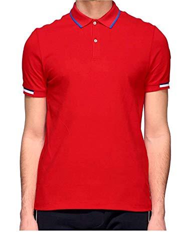 Colmar Poloshirt für Herren, Modell 7658Z-4SH- Weiß, Rot 56