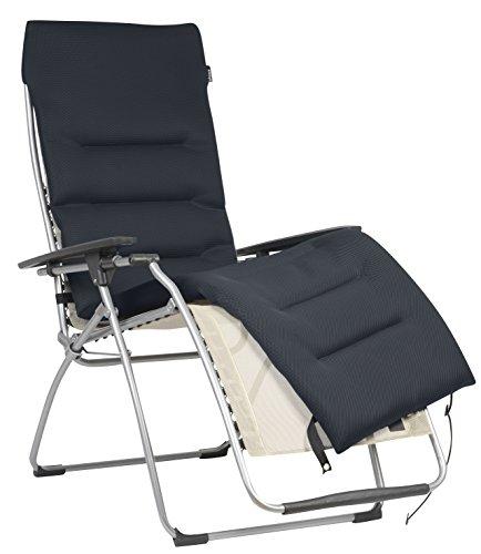 Lafuma Surmatelas rembourré Air Comfort pour fauteuil relax, Couleur: Acier, LFM2604-7278
