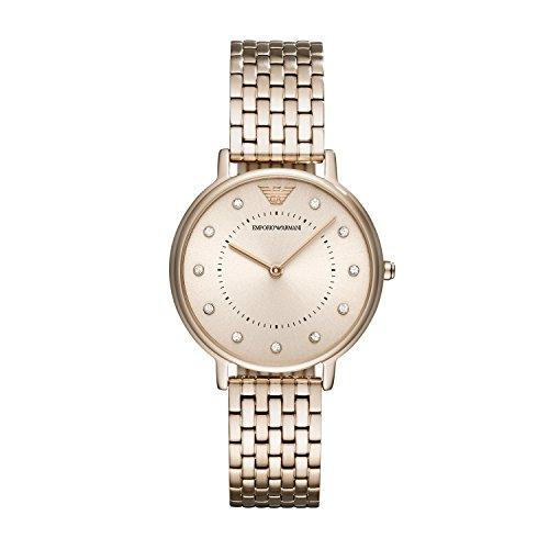 Emporio Armani Damen Quarz Uhr mit Edelstahl Armband AR11062