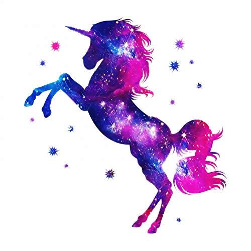 nikima Schönes für Kinder 163 Wandtattoo Einhorn pink lila Sterne Größe 1000 x 1000 mm