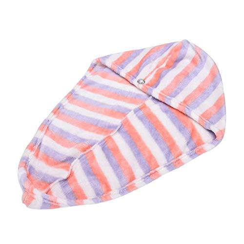 Gohanan 25X62 Cm Capuchon des Cheveux Secs pour Dame Serviette pour Cheveux À Séchage Rapide Belle Serviette de Bain pour Le Séchage Au Sèche-Cheveux Wrap Hat Maquillage Cosmétiques Essuie-Mains