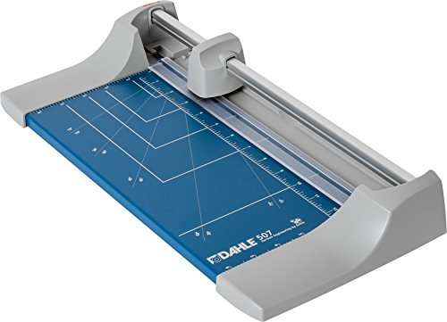 "Dahle 507 Personal Rotary Trimmer, 12"" Cut Length, 7 Sheet Capacity, Self-Sharpening, Automatic Clamp, German Engineered Paper Cutter"