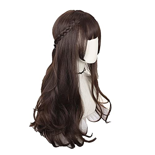 Harajuku ita Sweet Daily Wig Gradient Ombre Girl Curly Wigs Cosplay Princess Synthetic Hair Mixed Color Long Wavy Party Wig