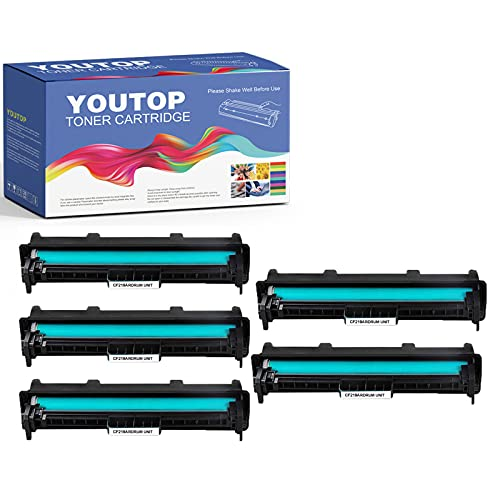 YouTop 5 tambores 19A CF219A para impresoras HP Laserjet Pro M102a M102w, MFP M130fn M130fw M130nw M130a (12.000 páginas)