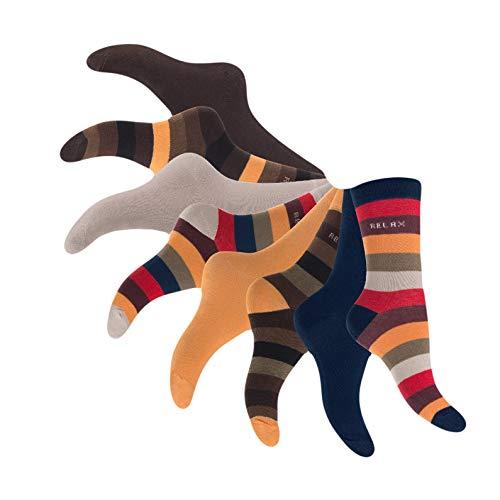 Footstar 8 Paar Damen Socken, Freizeitsocken geringelt und uni, Damensocken Größe 39-42