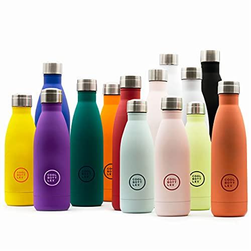 Cool Bottles - Botella de Agua de Acero Inoxidable - 500 ml - Pastel Sky - 26,5 x 7 cm - Botella Térmica Hermética - Bebidas frías 36 horas y calientes 18 horas - Triple-Cool Technology - Sin BPA