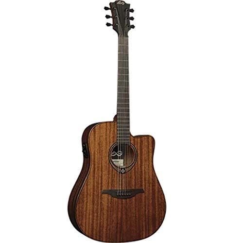 LAG T98DCE Dreadnought Guitarra electroacústica Khaya Cutaway sólida natural