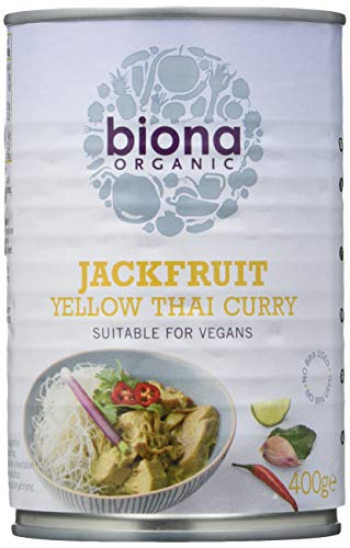 Biona Jaca Curry Talilandés Ecológica - Jackfruit - Vegetariano, Vegano, Paleo -...