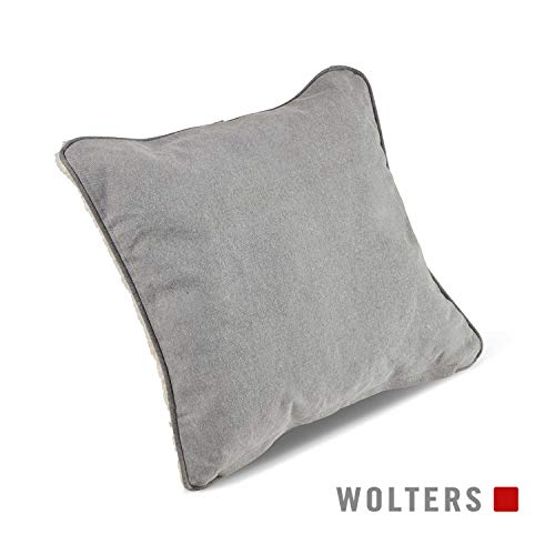WOLTERS Green Line Kissen 40 x 40cm steingrau