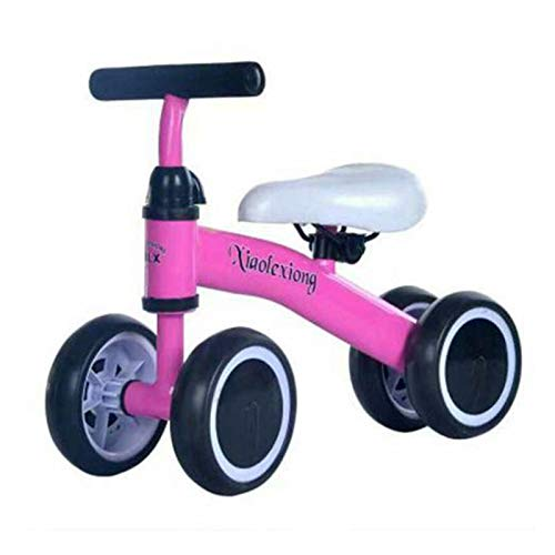 JHHXW Bicicletas de equilibrio para niños, bicicleta deslizante de 4 ruedas de 4 ruedas, ruedas de color de EVA no inflables, bicicleta liviana para niños pequeños, 1-3 años, niñas, niñas, niñas, niña