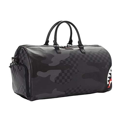 Sprayground | 3AM Checkered Camo Shark Duffle Travel Bag - Black Black