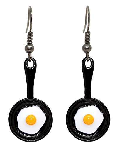 Bluebubble ALL DAY BREAKFAST Frying Pan with Fried Egg Dangle Earrings With FREE GIFT BOX