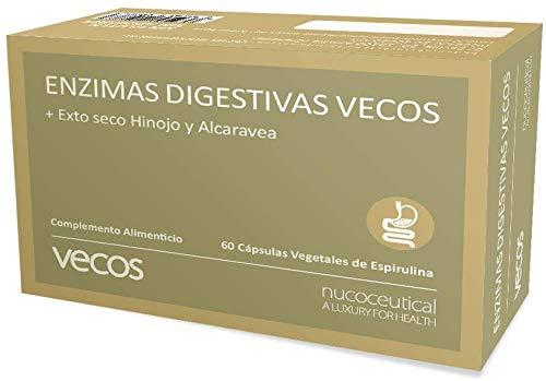 Enzimas digestivas con alta concentración de papaína, bromelina y digezyme para mejorar la digestión y ayudar a la absorción de nutrientes – Mejora la salud gastrointestinal – 60 cápsulas vegetales