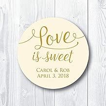 Love is Sweet Wedding Stickers