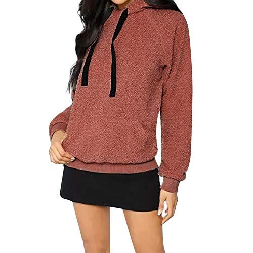 Femme Veste Manteau Sweat à Capuche Femme Sweat-Shirt à Capuche Manteau Blousons Hoodie Chaud Automne Hiver Poche Jacket Sweat-Shirts Tops