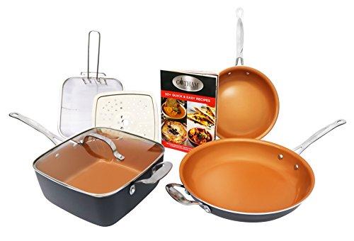Gotham Steel Tastic Bundle 7 Piece Cookware Set Titanium Ceramic Pan