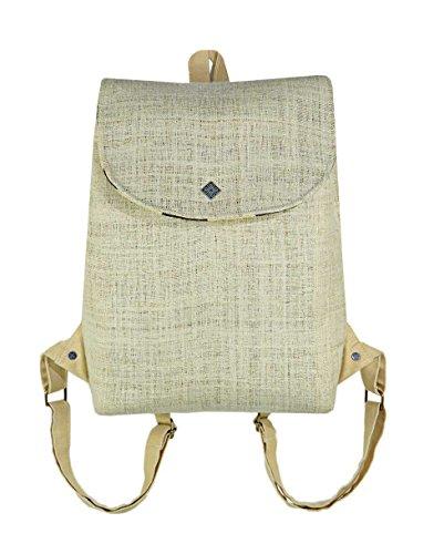 LAPPENWERK – Hanf Rucksack Damen Vintage Rucksack und Ethno Hippie Rucksack als Hanf Taschen Rucksack - Bokashi be