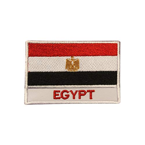 Parche bordado con la bandera nacional de Egipto